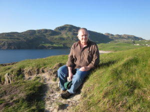 Fred Marchant, on a Hillside in Donegal. Photo by Stefi Rubin