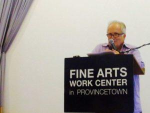 Fred Marchant reads at the Fine Arts Work Center. Photo by Stefi Rubin