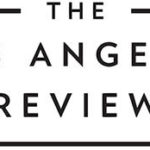 """THE,"" and under that, ""LOS ANGELES,"" and under that, ""REVIEW"" are centered, in all-caps and black font on a white background. There is a think black line on either side of ""THE"" and a thick black line under ""REVIEW."""