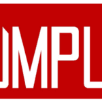 """THE"" in smaller letters is on top of the ""R"" in ""RUMPUS"" in much larger letters. ""The"" and ""R"" are red on a white background; the colors are transposed for the rest of the letters."