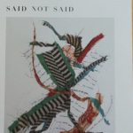 Collage by Peter Sacks, on cover of Fred Marchant's Said Not Said